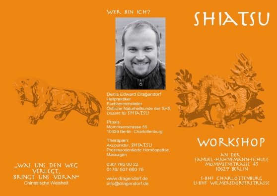 Shiatsu Workshop Flyer Vorderseite 2012